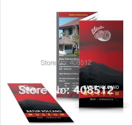 Us 5 0 Custom Design Flyer Druck Personalisierte Broschüre Drucken Gefaltet Flugblätter Papier ärmeln Postkarten In Visitenkarten Aus Büro Und