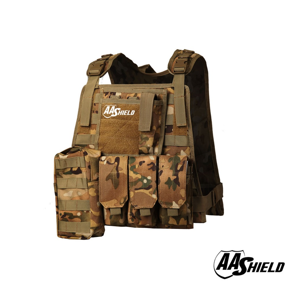 AA Shield Molle Hunting Plates Carrier MBAV Style Military Tactical Vest / MC aa shield camo tactical scarf outdoor military neckerchief forest hunting army kaffiyeh scarf light weight shemagh desert dig