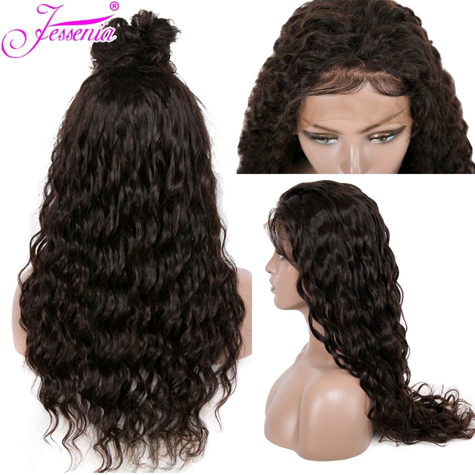 Brazilian Water Wave 13*4 Lace Frontal Human Hair Wigs With Baby Hair PrePlucked For Black Women Brazilian Lace Wigs