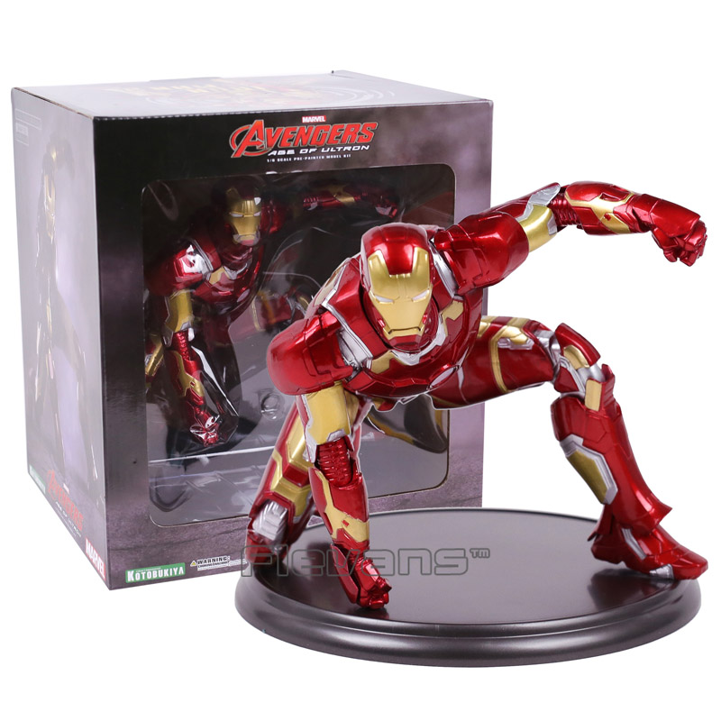 Avengers Age of Ultron Iron Man 1/6 Scale Pre-Painted Model Kit PVC Figure Collectible Toy xinduplan marvel shield iron man avengers age of ultron mk45 limited edition human face movable action figure 30cm model 0778