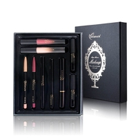 2017 9 Pcs Makeup Set Matte Lipstick Lip Gloss Lipliner Set Sexy Pencil Red Long Lasting