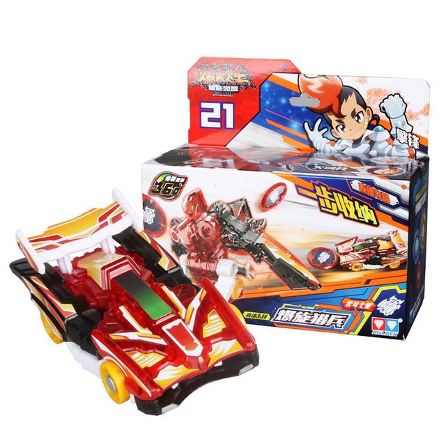AULDEY Burst prędkość deformacji samochodu Action Figures DPTI MORPHS uchwycić wafel 360 stopni Burst transformacji samochodu zabawki