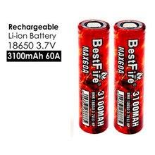 18650 batería 3100mAh 60A Vape batería para Vaporesso Luxe Polar botín humo especies X-PRIV Mag alienígena Vgod VOOPOO arrastrar 2 Mod A135