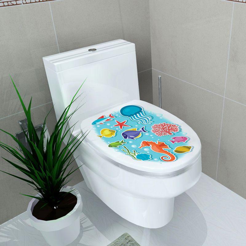 Home & Garden Home Decor Home Decor Toilet Sticker Stool Pedestal Pan Cover Sticker Commode Home Decor Bathroom Decor 3d Printed Flower View 32*39cm