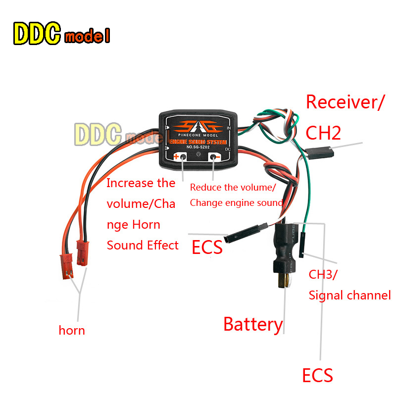 US $17 80 RC Truck Engine Sound Set with 2 Inch Loudspeaker for RC