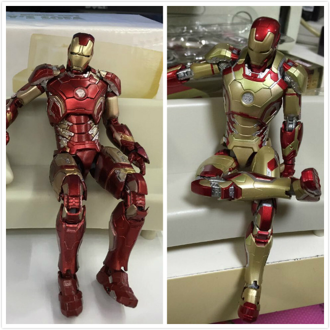 Retail Wholesale Marvel Iron Man  Action Figure Superhero Iron Man Tonny Mark 42 PVC Figure Toy 20cm Chritmas Gift Free shipping marvel iron man mark 43 pvc action figure collectible model toy 7 18cm kt027
