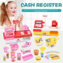 Ice cream and Hamburger simulation cash register girl toys supermarket cash