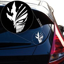 Bleach Ichigo Kurosaki Hollow Mask Sticker Decal for Car Laptop Wall (5.5 inches (Black)