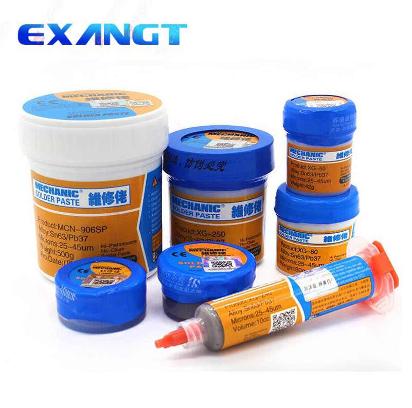 High quality 35GSolder Paste Flux Original HK MECHANIC Soldering Paste XG-40 XG-50 XG-Z40Solder Tin Sn63/Pb67 For soldering iron
