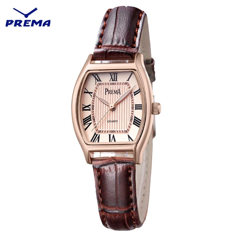 PREMA Brand Women Watches Fashion Female Watch 2019 Ladies Casual Quartz Watch Leather Clock WristWatch Women Dropshipping