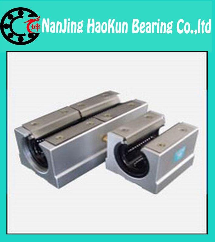 ФОТО 2pcs SBR16 L 2000mm linear shaft rail support with 4pcs SBR16UU linear motion auminum bearing sliding block   router part