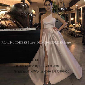 Image 5 - A line Bridesmaid Dresses Long African Women 2020 Sleeveless Long Maid Of Honor Dress Sexy High Split Dress For Wedding Party