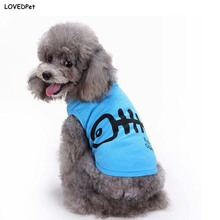 Blue Cute Dog Shirts Clothes For chihuahua Pets Coat Suit Doggy Esa cats dog vest clothes for york Pink T-Shirt for animals pug
