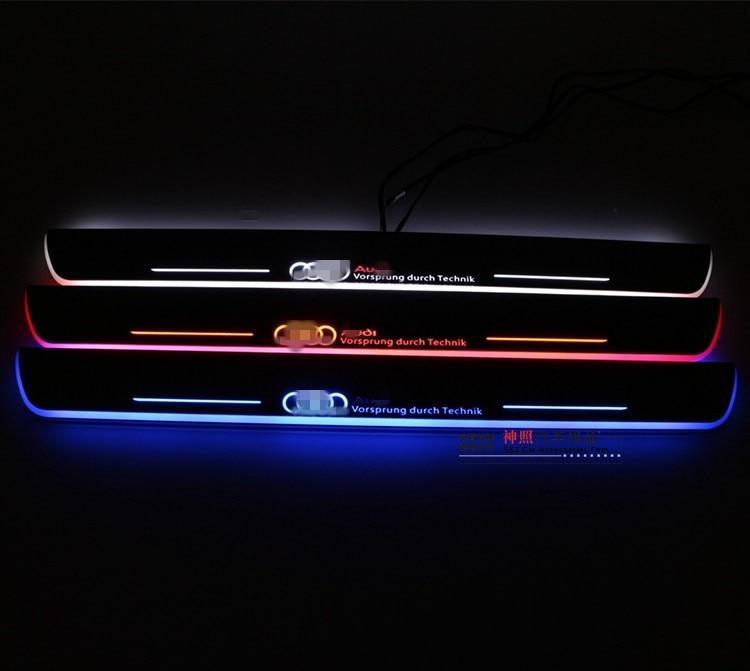 EOsuns LED moving porte d'usure porte seuil lumière Nerf Bars et Marchepieds pour audi A3/S3 A5 A1 a5/S5/RS5 A6L C7 A7/S7/RS7 Q5 Q3 Q7