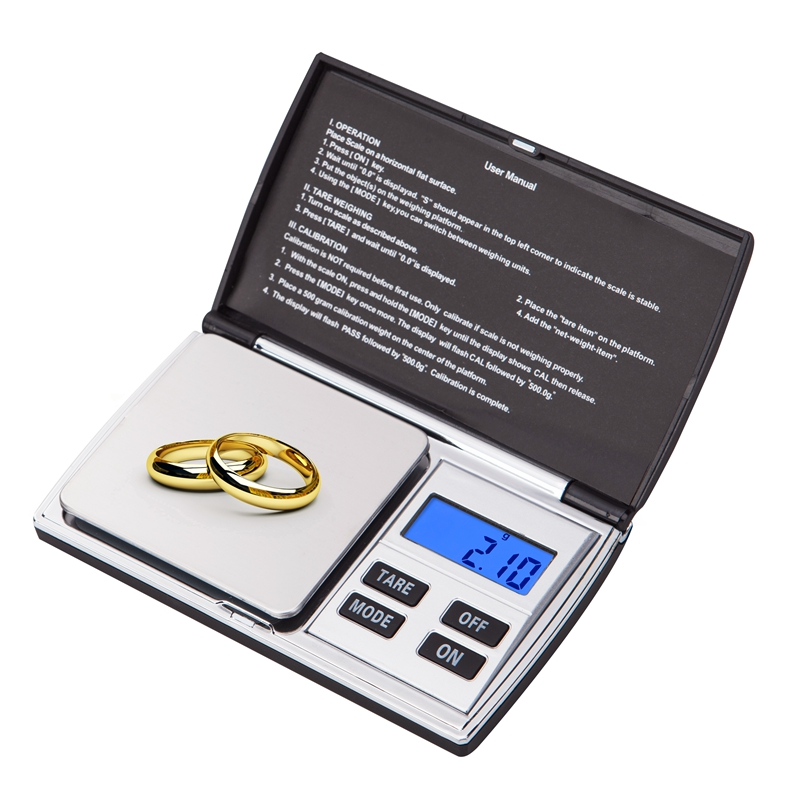 portable digital jewelry scale 500g electronic blue lcd gram balance weight precision. Black Bedroom Furniture Sets. Home Design Ideas