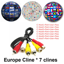 Cccam 7 Clines for Satellite Receiver 1 Year CCcam Server for Spain UK Portugal Poland Germany Italy Europe/CCCam Panel