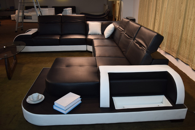 Italian Leather Sofas Like Hot Cakes Creative Large Family Sitting Room Furniture Can Be Customized