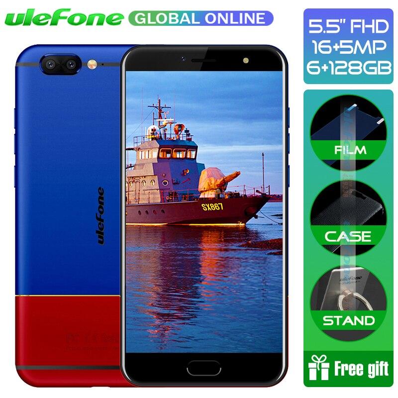 Ulefone T1 Édition Premium 5.5 FHD P25 Octa Core 2.6 ghz Smartphone 6 gb + 128 gb 16MP Double cam D'empreintes Digitales Android 7.0 Mobile téléphone