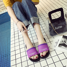 купить 2019 Women Slippers Cute Summer Beach Slides Home Slippers Platform Sandals Women Shoes Bothe Couples Flip Flops по цене 236.27 рублей