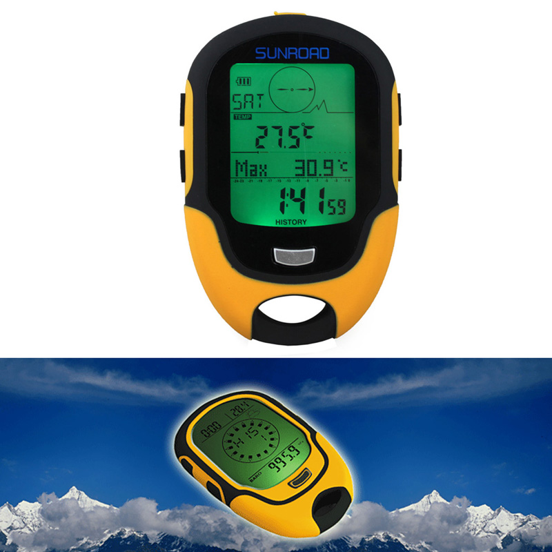 Waterproof FR500 Multifunction LCD Digital Altimeter Barometer Compass Portable Outdoor Camping Hiking Climbing Altimeter Tools 8 in 1 digital lcd compass altimeter barometer thermo temperature clock calendar for outdoor hiking fishing