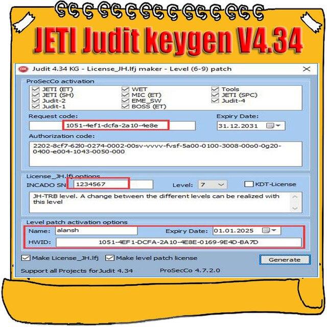 2019 Hot Sell for Jungheinrich (JETI) Judit  4 v4.34 License and ET SH Keygen License_JH.lfj Maker Level 6 9 Patch