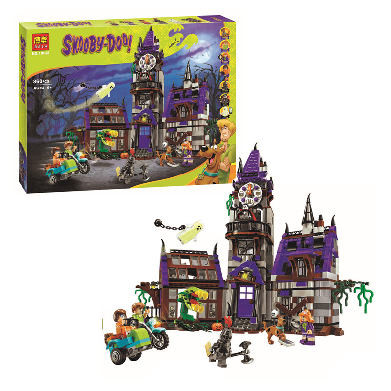 Bela10432 Scooby Doo Mystery Castle Courtyard Building Blocks Compatible with Lego Lepin Series Best Toy Gift For Children lepin 02012 city deepwater exploration vessel 60095 building blocks policeman toys children compatible with lego gift kid sets