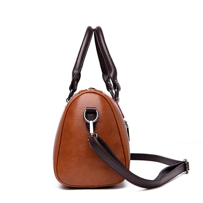Bolsas de couro genuíno das mulheres bolsas de ombro de luxo crossbody sacos para as mulheres messenger bags boston couro de vaca