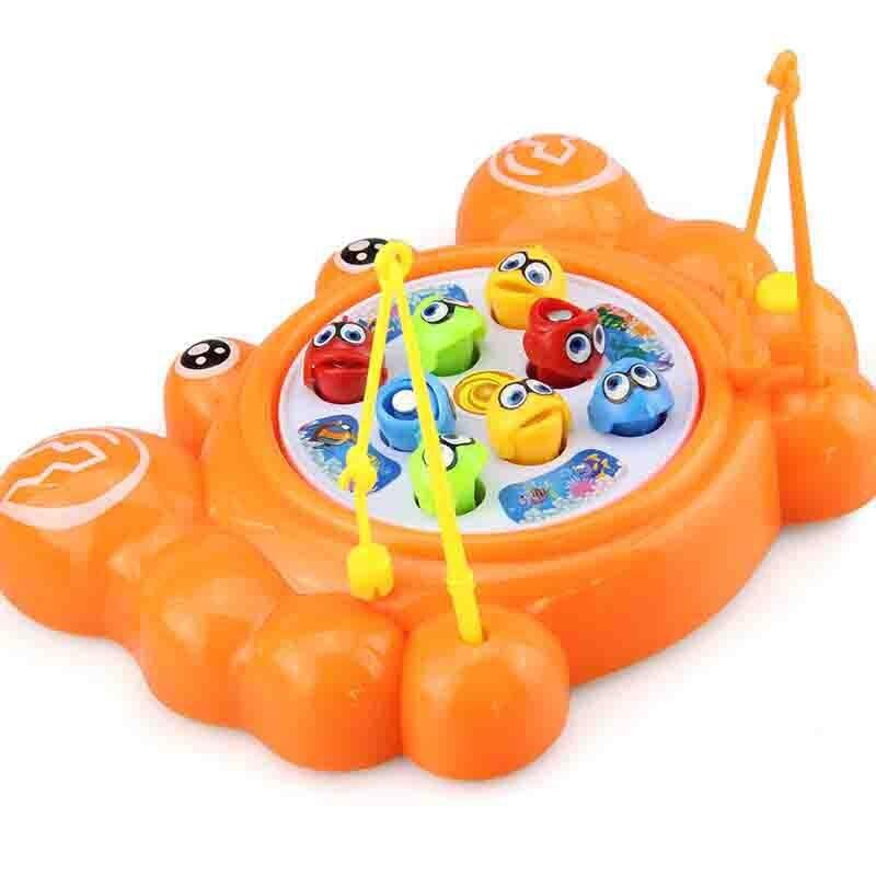 Игрушечная Рыбалка Электрический Краб вращающегося магнитного магнит Рыбалка обучающая игра игрушка для детей