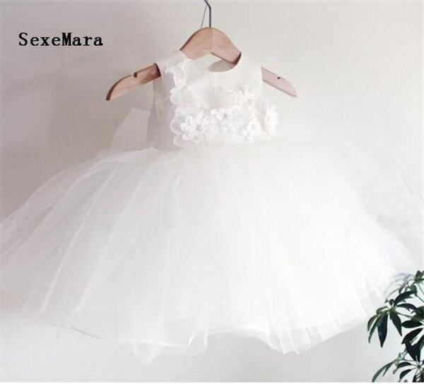 Nouveau ivoire blanc bébé robe d'anniversaire bébé fille robes de baptême bébé fille robes de baptême première robe d'anniversaire taille 3-24 M