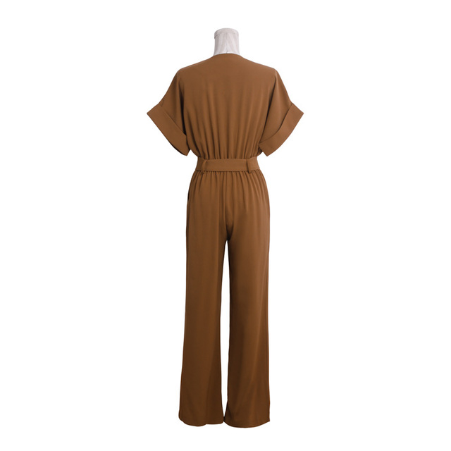 [TWOTWINSTYLE] 2017 summer elegant high waist rompers womens jumpsuit with belt black clothing new fashion