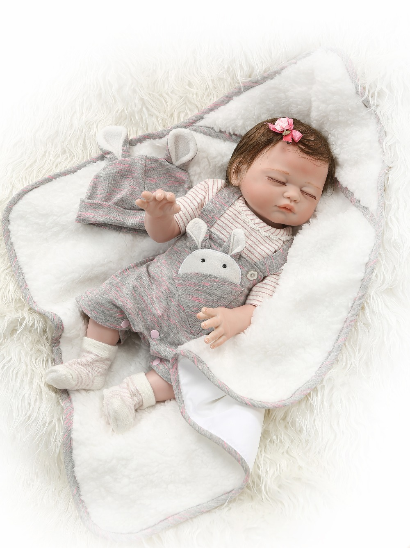 NPK 49 CENTIMETRI di corpo pieno di silicone reborn baby doll gemelli ragazzo e una ragazza bebes reborn mano di vernice di pelle rossa radicata capelli impermeabile vasca da bagno giocattolo-in Bambole da Giocattoli e hobby su  Gruppo 3