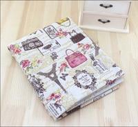 Eiffel Tower Apparel Sewing Print Material Hemp Fabrics For Patchwork Cotton Knitting Textiles Linen Fabric 1