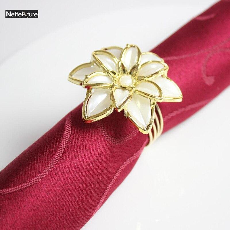 pcs european style double flower wedding napkin ring