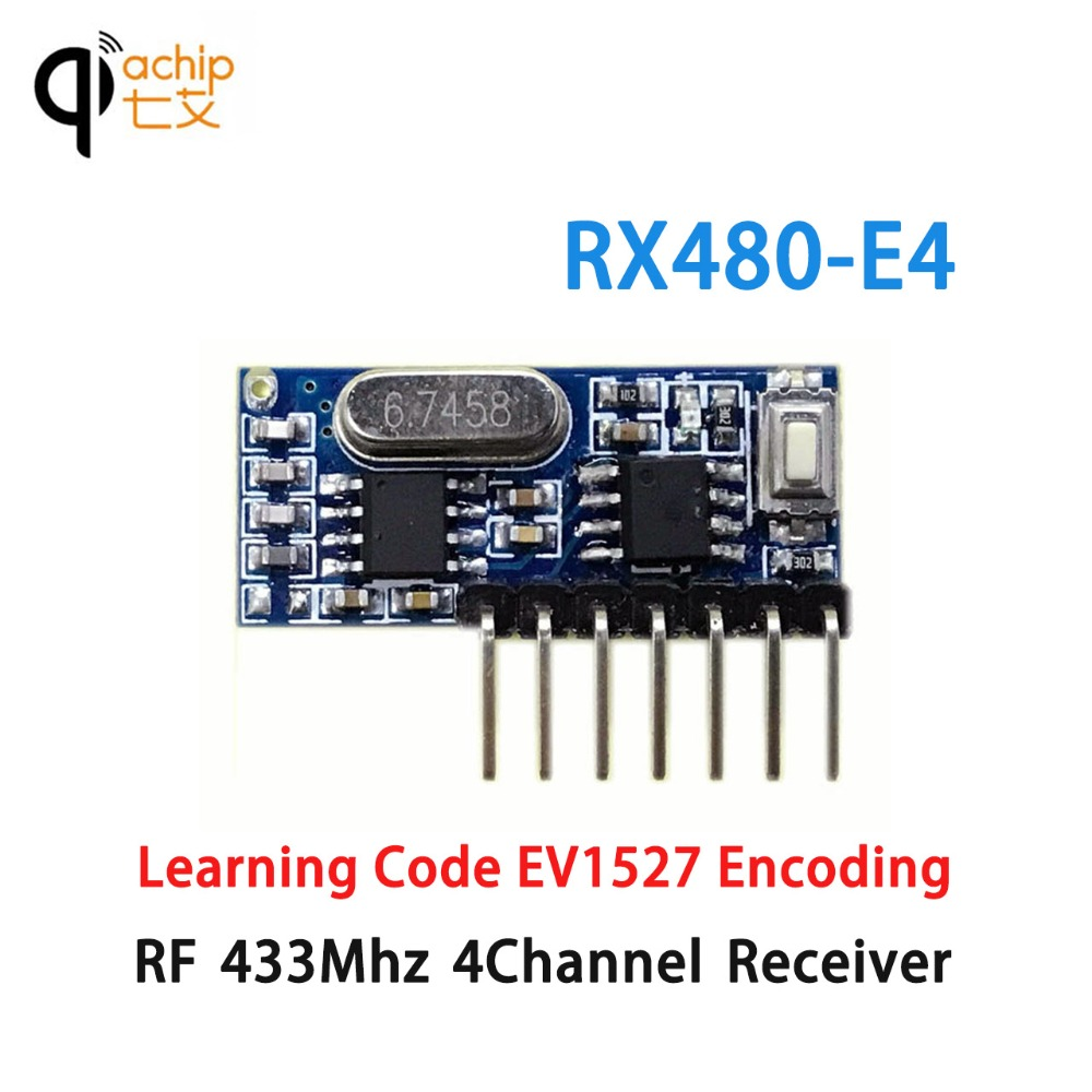 Qiachip 433mhz Rf Receiver Transmitter Learning Code 1527 Pair Operating At 433 Mhz Module Superheterodyne Wireless 4ch 43392 Remote Control Ev1527 In Controls From