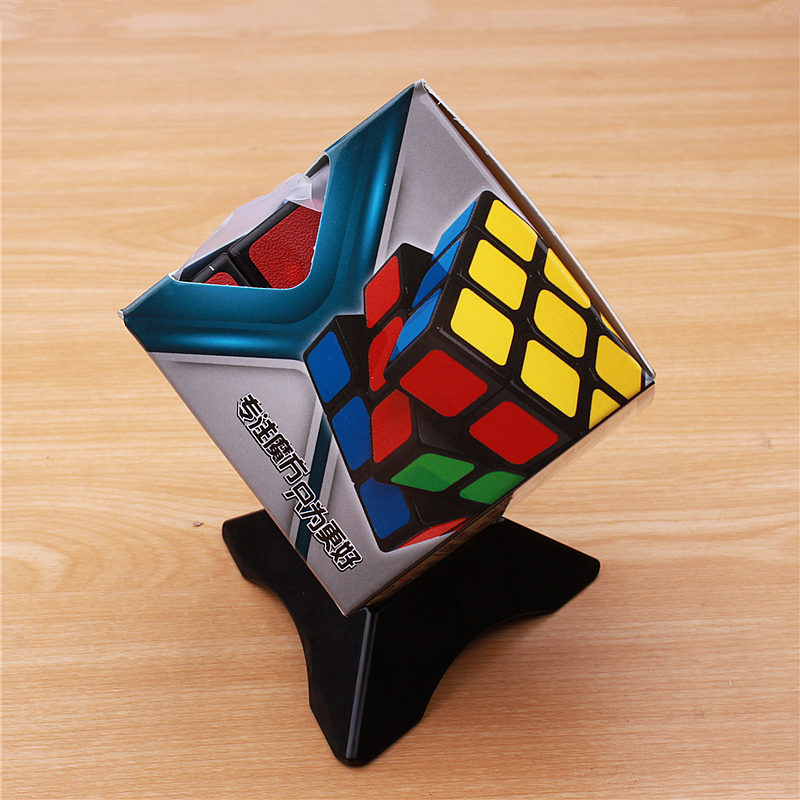 Klassik oyuncaqlar Cube3x3x3 PVC Etiket Bloku Puzzle Sehrli Sürət - Bulmacalar - Fotoqrafiya 6