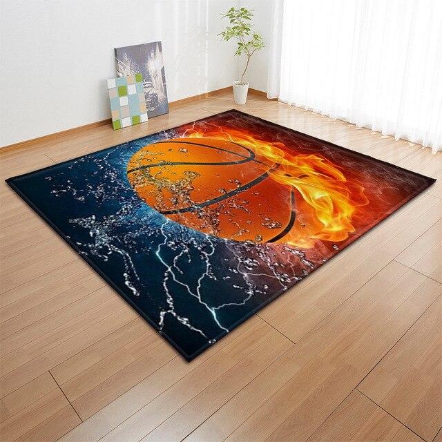 Alfombra con estampado 3D para niños alfombra con estampado 3D para baloncesto, sala de estar, juegos de fútbol, regalo de cumpleaños