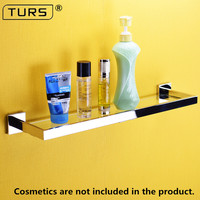 2018 SUS 304 Stainless Steel Glass Bathroom Shelf Mirror Polished Solid Square 50 CM Length for Single Layer Towel Rack