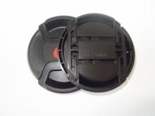 30 adet/grup 40.5mm 49mm 55mm 58mm merkezi pinch Snap on kapatma başlığı LOGO alfa için lens kapağı