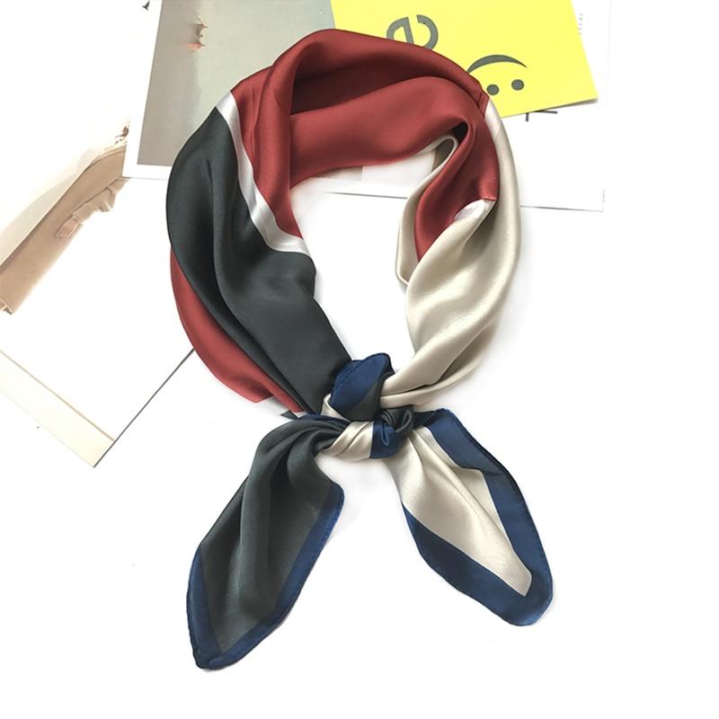 Silk Scarf Women Spring Autumn 70*70 Fashion Scarves Small Squares Head Scarf High Quality For Women Shawl