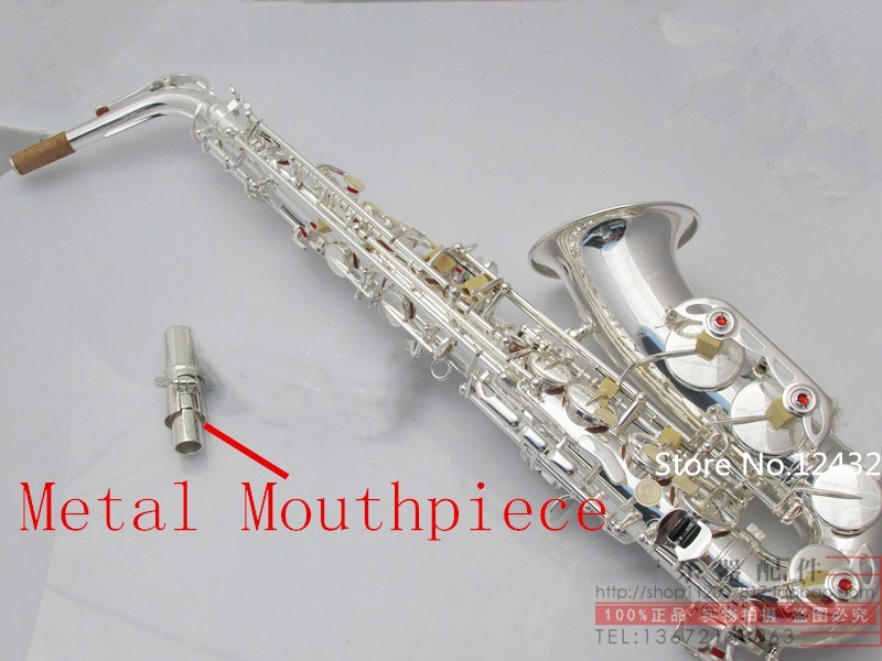 2018 Yanagisawa Alto Saxophone High quality Japanese Alto sax W037 Silver plated alto musical saxophone promotion Free shipping tenor saxophone free shipping selmer instrument saxophone wire drawing bronze copper 54 professional b mouthpiece sax saxophone