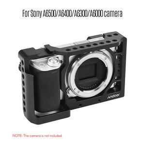 Image 5 - Andoer ze stopu aluminium ze stopu aluminium klatka operatorska przypadku z zimna butów zamontować dla Sony A6500/A6400/A6300/A6000 kamera do fotografia akcesoria