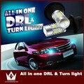 Guang Dian carro levou luz Switchback luz com DRL Daytime running luz com Sinal de Volta Luz para Camry XV50 SOCAL-LED