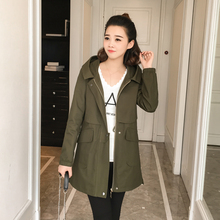 Trench Coat For Women Long Sleeve Women Coat Army Green And Black Large Size