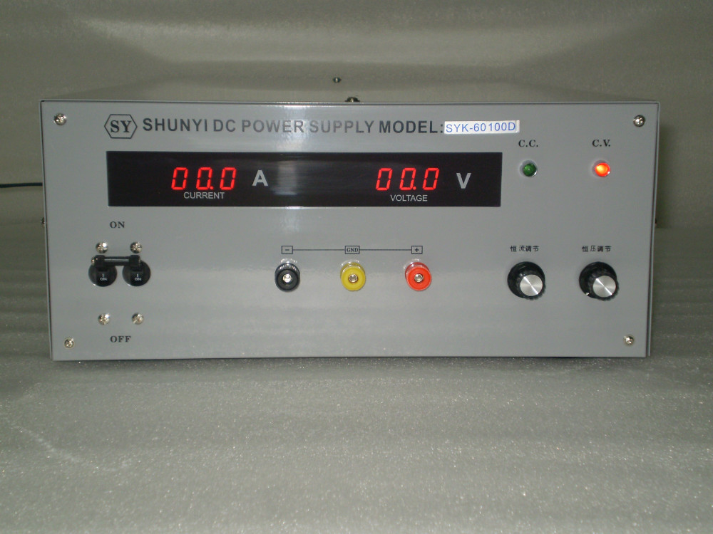 SYK6050D DC  power supply output of 0-60V,0-50A adjustable Experimental power supply of high precision DC voltage regulator dc dc high power low ripple 12a adjustable voltage regulator module high efficiency on board voltage regulator