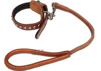 Cow Skin Leather Rope For Pets LEATHER Dog Straps Pet Collar