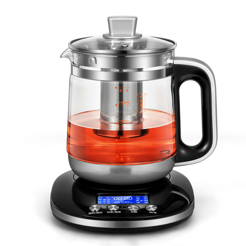 Electric kettle Health pot full automatic multi-function liquid crystal thickened glass tea Overheat Protection electric kettle health cup mini health pot full of glass electric hot office brew