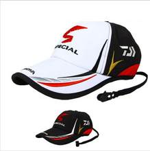 Gorra de béisbol ajustable con letras para hombres adultos, gorro de pesca, deportes, sombrilla de color negro, sombrero especial de pescadores, 2020