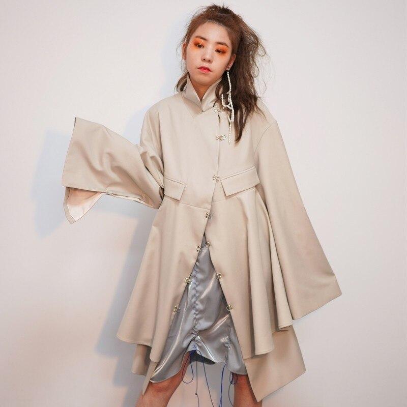 Backless Windbreaker Women Trench Fashion