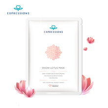 Expressions 100% Face Care Facial Mask Snow Lotus Essence Moisturizing Hydrating Face Mask Makeup Korean Cosmetic Treatment Mask