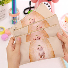 Women Portable cartoon Oxford cloth Multifunction Beauty Zipper Travel Cosmetic Bag Makeup Case Toiletry Pouch Pen Purse bag